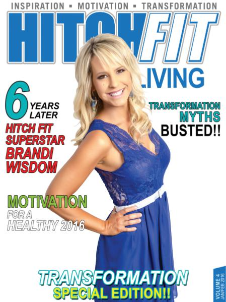 Hitch Fit Living Magazine Cover - Volume 4 - January and February 2016 - Transformation Special Edition